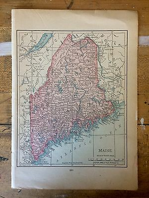 Antique Map of Maine 1904 by Rand, McNally & Co.