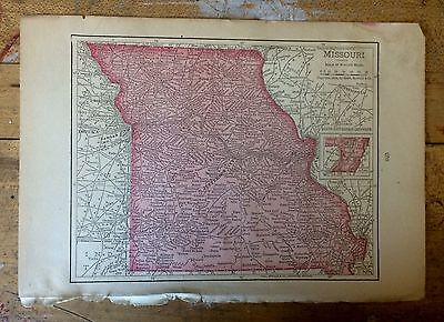 Antique Map of Missouri 1904 by Rand, McNally & Co.