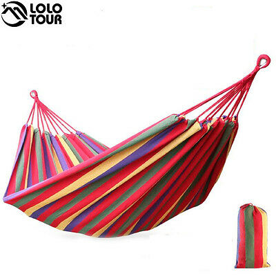 2 Person Hammock hamac outdoor Leisure bed hanging bed double sleeping canvas