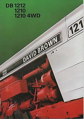 David Brown Tractor 1212 1210 Brochure Leaflet
