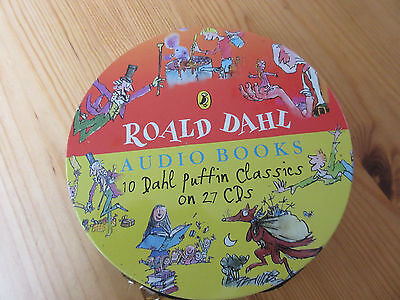 Puffin Roald Dahl 10 Classics on 27 cds in tin very good condition