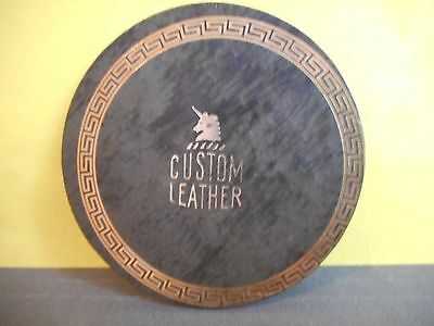 ''Custom Leather''Company Advertising Vintage Leather Beer,Drink Coaster