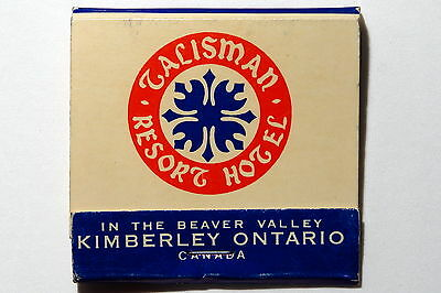 Talisman Resort Hotel Beaver Valley Canada Unused Paper Matches Match Book Mb1