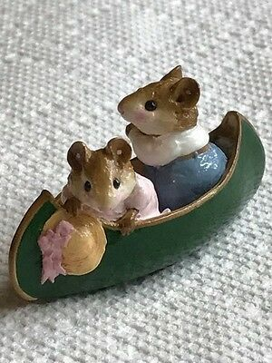 Wee Forest Folk Two in a Canoe, green
