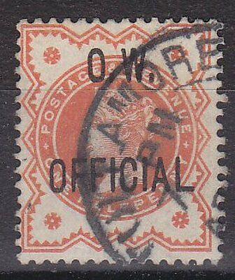 GB QVI - SG O31 - Office of Works OFFICIAL 1/2d vermillion - Fine Used