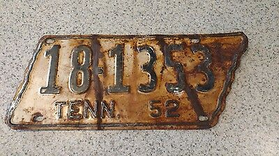 1952 Tennessee License Plate