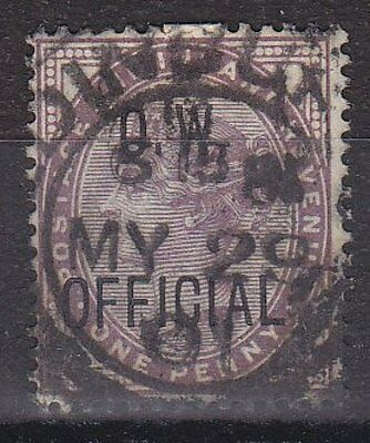 GB QVI - SG O33 - Office of Works OFFICIAL 1d Lilac - Av. Used