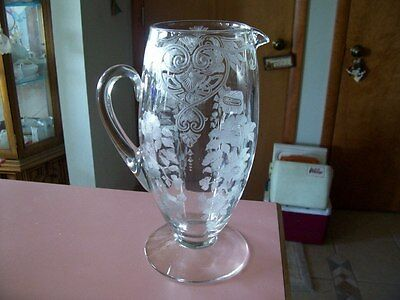 Cambridge Apple Blossom crystal 64 oz pitcher