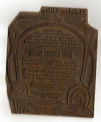 1847 Rodgers Brothers Silverware Printers Plate