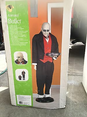 Halloween Prop Animated Butler Jeeves 6 Feet Tall Breathes OG uncle fester