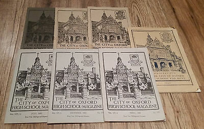Lot of 7 The City of Oxford High School Magazine 1939, 1940s and 60s