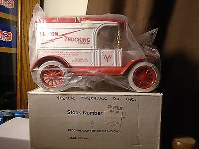 Yelton Trucking Co. Inc.1913 Ford Model T Delivery  ERTL Truck Bank Stock# 9402