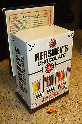 triple Hershey's chocolate theme vending machine w/ menu holder candy