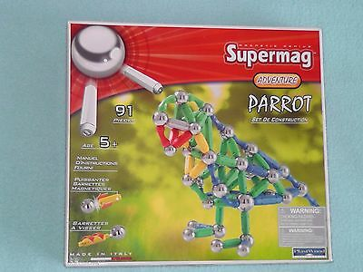 New  - Supermag  - PARROT 91pc Set Magnetic Construction Set