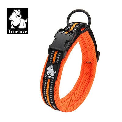 Mesh Padded Soft Nylon 3M Reflective Dog Collar 5 Colors