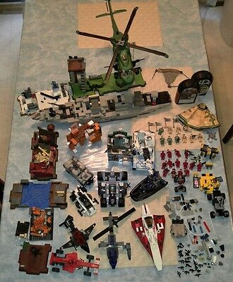 Huge Lot Lego kits Helicopters Tanks Boat Racers Star Wars Harry Potter