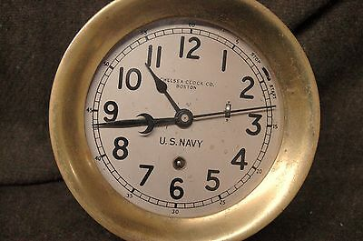 WWII US NAVY Chelsea Ships ZIG ZAG Clock serial 278958 @ Aug 1941