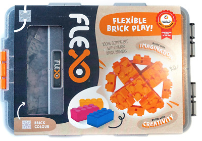 NEW Grey Flexo Beginners Pack - Flexible Brick Play from Purple Turtle Toys