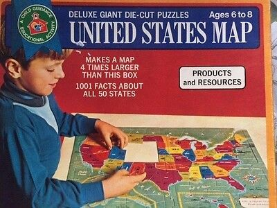 A Child Guidance Educational Activity-United States Map Deluxe Giant Puzzle