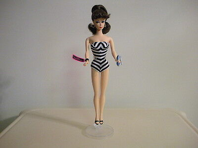 Barbie 35Th Anniversary Special Edition Brunette  Reproduction Doll New No Box
