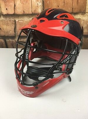 Cascade CPX Lacrosse Helmet, Blue and Red with Chin Strap MLL youth