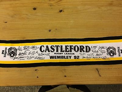 Castleford Rugby League 1992 Wembley Challenge Cup Final Scarf