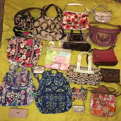 Designer Purses, Wallets, Bags REHAB RESALE-lot Of 18 COACH VB FOSSIL BRIGHTON