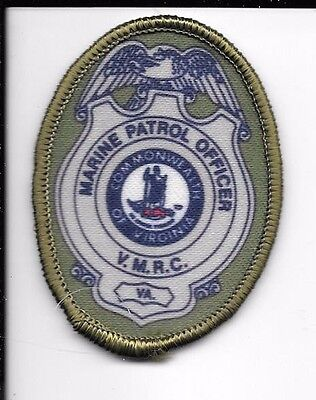 Virginia Marine Resources Commission Marine Patrol Officer Hat Patch Unused