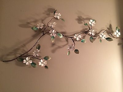 Dogwood Blossom Branch Metal Wall Art Sculpture by Bovano of Cheshire