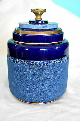Vintage Early 20th Century Taylor Tunnicliff & Co. Tobacco Humidor Biscuit Jar