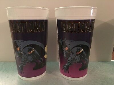 1989 Batman Taco Bell cups movie version 3 total
