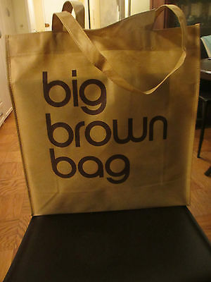 NEW Bloomingdale's Reusable Big Brown Bag Shopping Beach NWT lightweight large