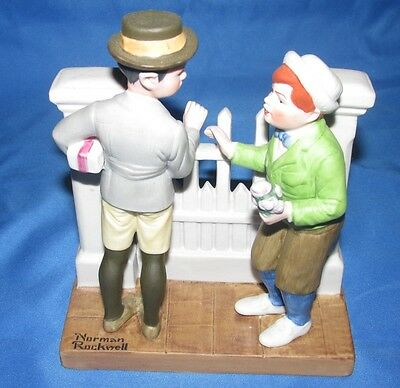THE RIVALS == THE 12 Norman Rockwell PORCELAIN FIGURINE 1980 Danbury JAPAN