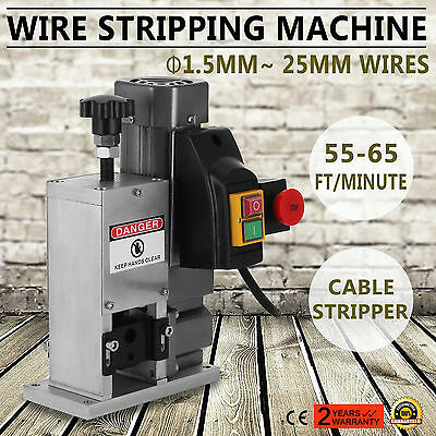 Powered Electric Cable Wire Stripping Machine Energy Saving Φ1.5~ 25mm Portable