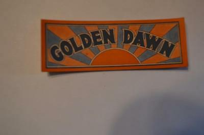 Golden Dawn Soda Label ?