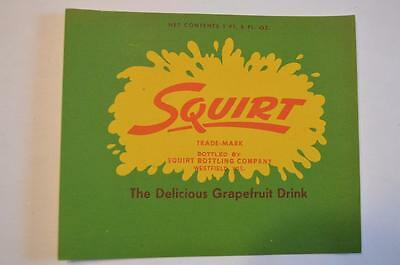 Squirt by Squirt Bottling co. Westfield Wisconsin  Label