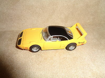 (V4-A)( Item 2) Tyco Hp7 # 9025 Ho Scale Slot Car Yellow Black Top 1970 Plymo...