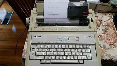 Brother AX 450 Electronic Typewriter - Good Condition and Free Printer Ribbon