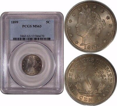 1899 5c Liberty Nickel PCGS MS63