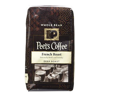 Peets Coffee Whole Bean Coffee Intensely Bold French Roast 12 oz Priority Ship