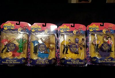 Wiggles Wiggly figures set of 8 sealed in package HTF
