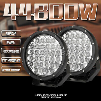 9'' 9990W 7D Lens HID CREE LED Round Work Driving lights Spot lights offroad 4x4