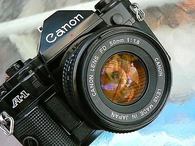 Canon A-1 Camera W/50Mm F1.8 Lens *tested *lubed Shutter & New Foams *mint-