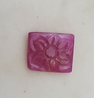 Natural Hand Carved Ruby Flower 11*13 Mm 5 Ct