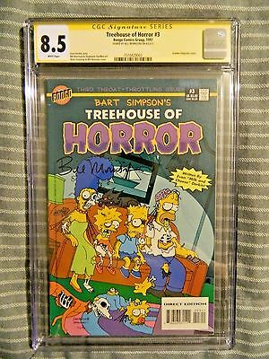 Bart Simpsons Treehouse Of Horror #3 Signed by Bill Morrison CGC 8.5