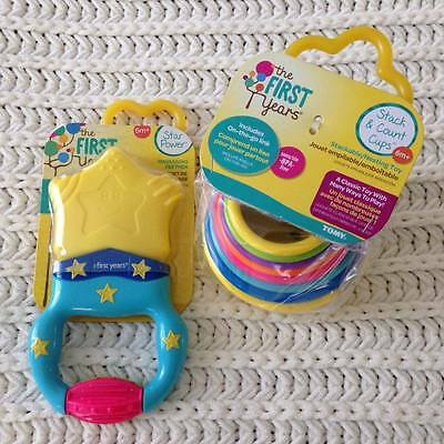 The First Years Massaging Action Teether and Stacking Up Cups Set