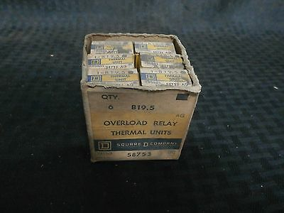 Square D 1 B19.5, Overload Relay, Full Load 11.3-15.0a, Lot of 6 *New Old Stock*