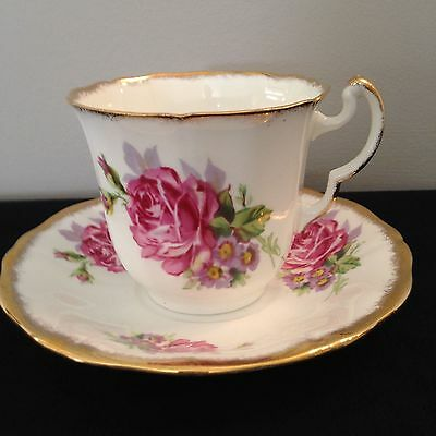 Adderly Bone China 1940's Rose Tea/Coffee Cup and Saucer