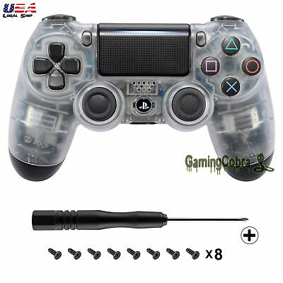 For Dualshock 4 PS4 Pro Slim Remote Controller Front Shell Cover Clear JDM-040