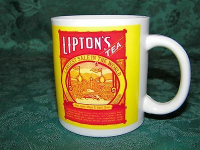 "Lipton's Finest Tea Coffee Cup Mug ""Largest Sale In The World"""